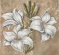Готовая фреска «Белая лилия»