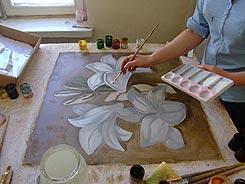Роспись фрески вручную